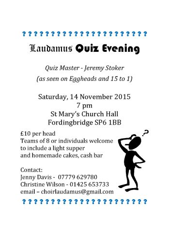 2015 Quiz Night poster