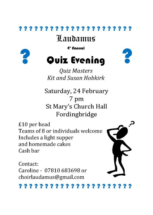 2018 Quiz Night poster